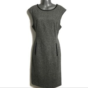Calvin Klein Womens Gray Sheath Dress Size 12